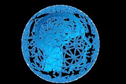 Symbolbild Künstliche Intelligenz, ein schematisch dargestellter Kopf mit einem Netz verknüpfter Punkte
