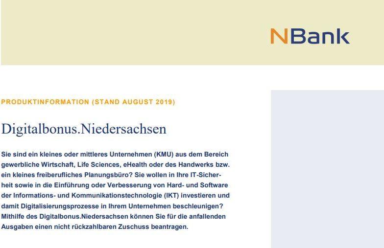Symbolbild Digitalbonus.Niedersachsen