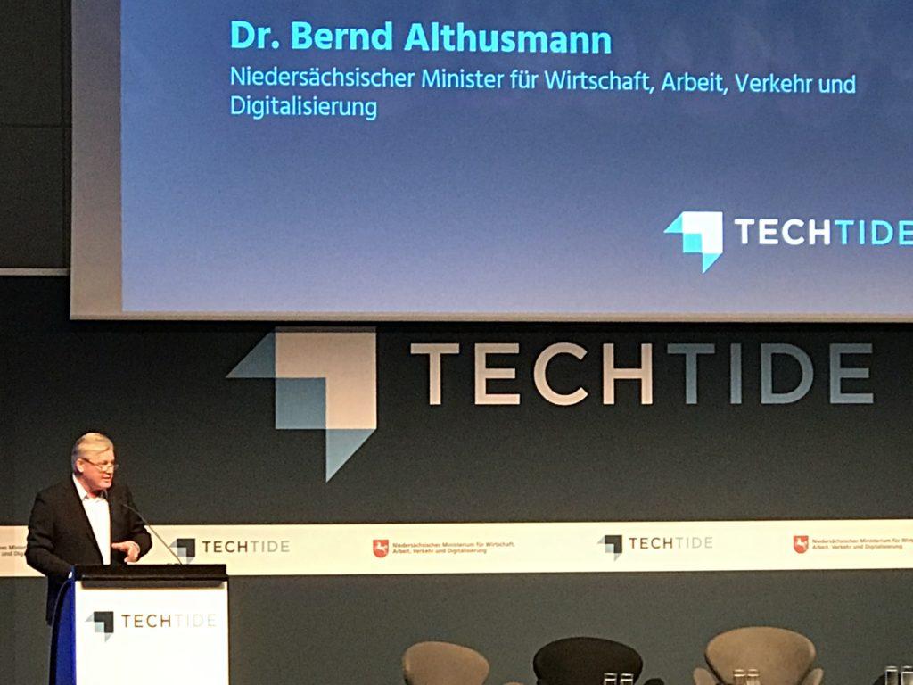 Minister Althusmann auf der Techtide