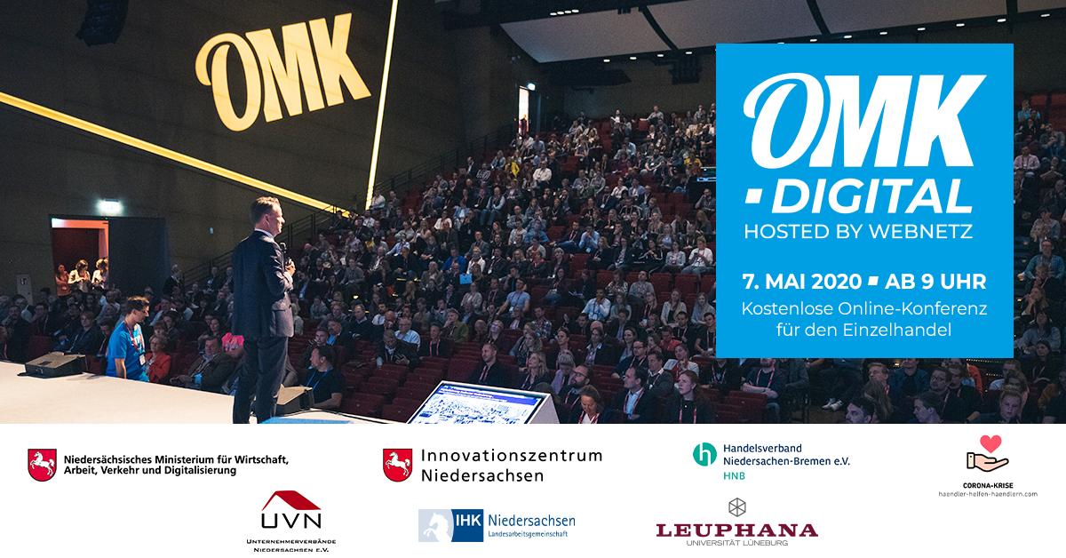 Flyer der OMK.digital 2020 mit Bild und allen Logos der Partner.