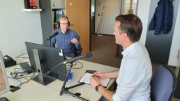 Christian Wagener und Tobias Heinen während des Podcasts