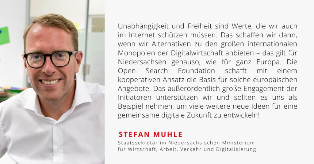 Ein Zitat von Stefan Muhle zur Open Search Foundation.