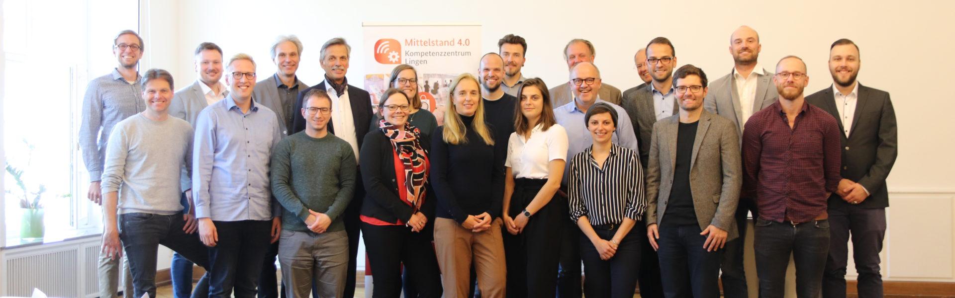Gruppenfoto des Mittelstand 4.0-Kompetenzzentrums Lingen