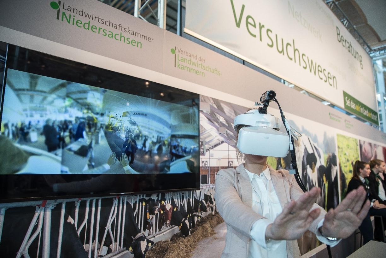 Die Vorstellung der Echemer Kuhbrille auf der letztjährigen EuroTier in Hannover