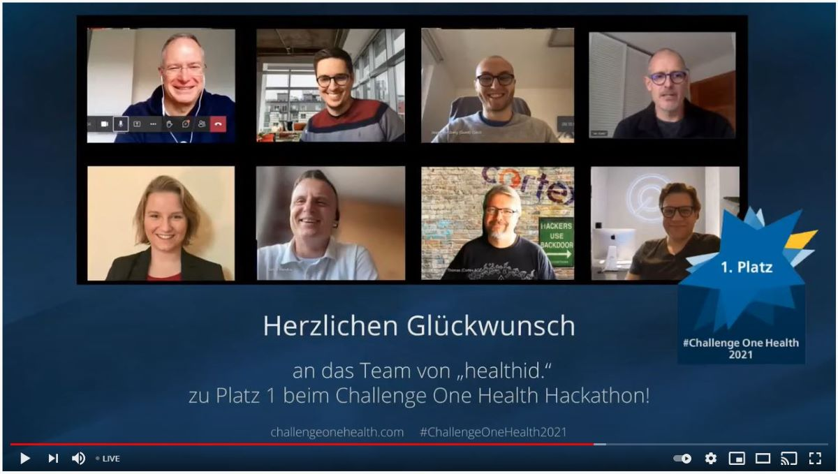 Das Siegerteam des One-Health-Hackathons 2021