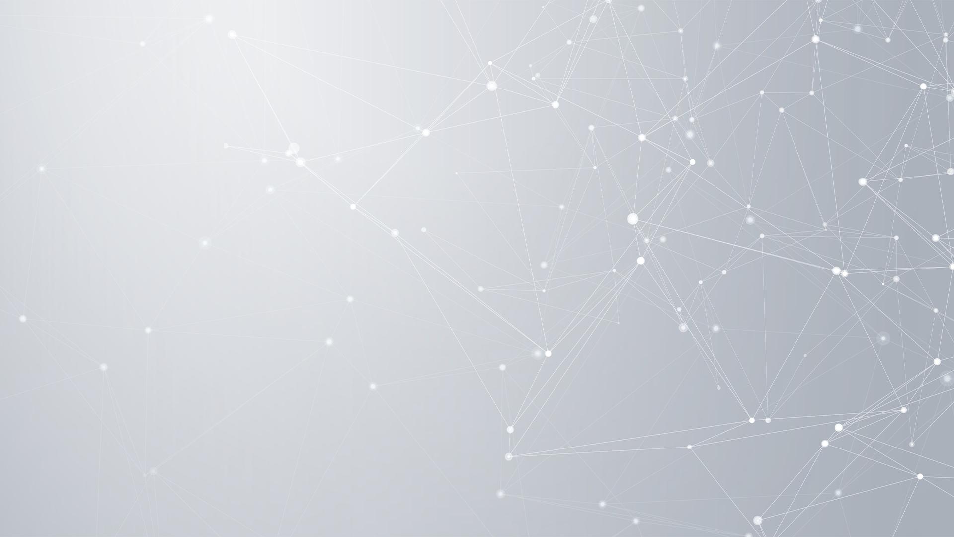Symbolbild Vernetzung, weiße Linien vernetzen sich vor grauem Hintergrund und bilden eine Netzstruktur