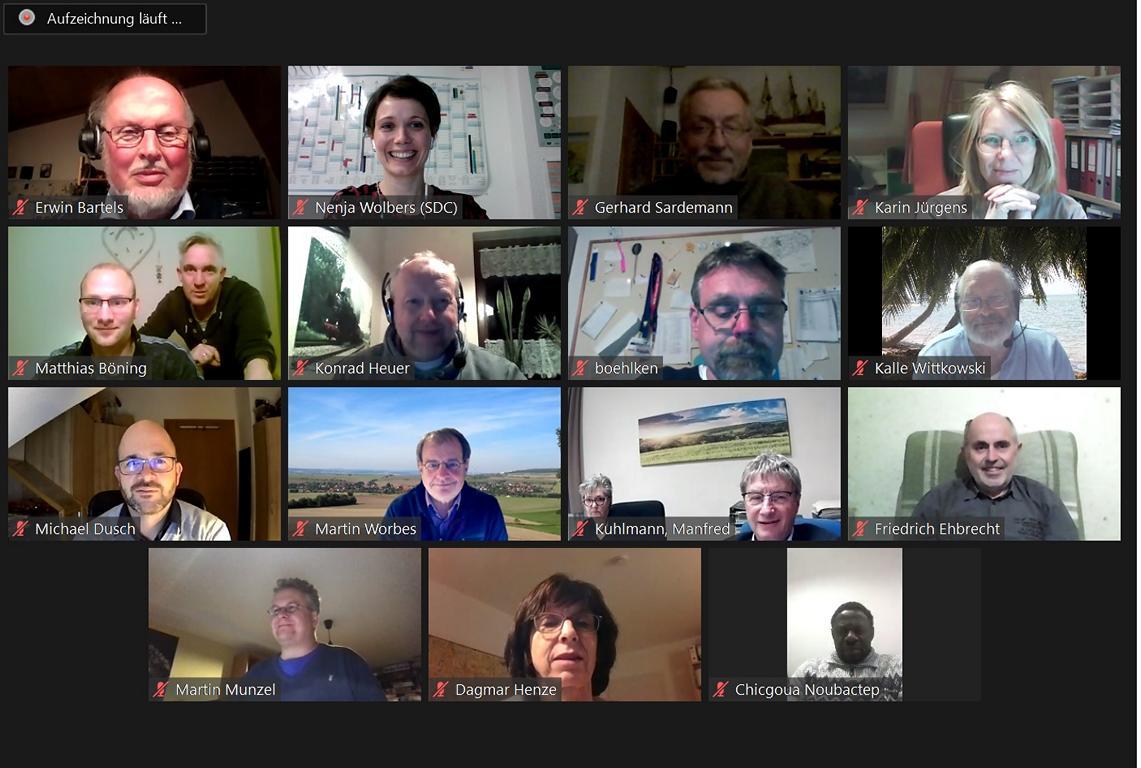 Screenshot von Videokonferenz des Arbeitskreis