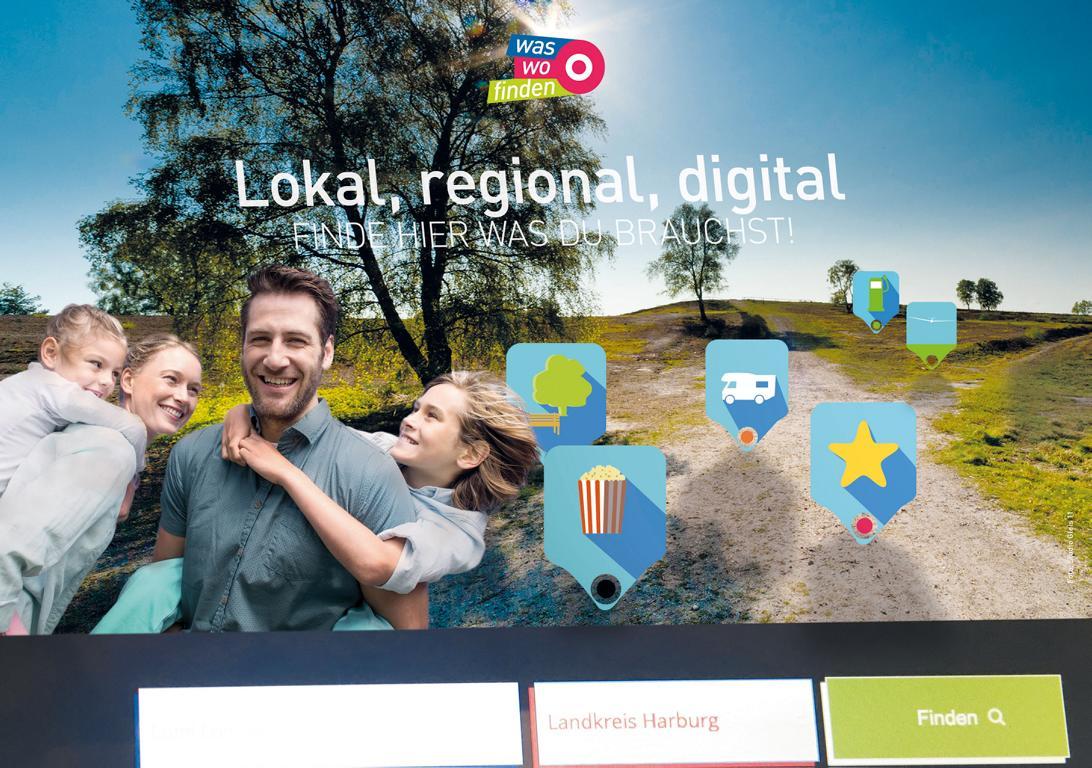 Das Bild zeigt das Webportal von My Local Media.