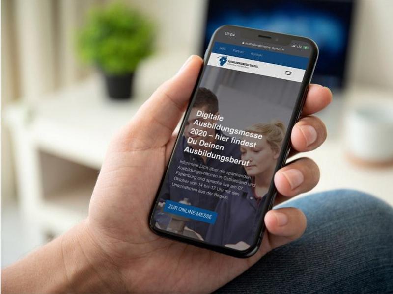 Digitale Ausbildungsmesse auf dem Smartphone
