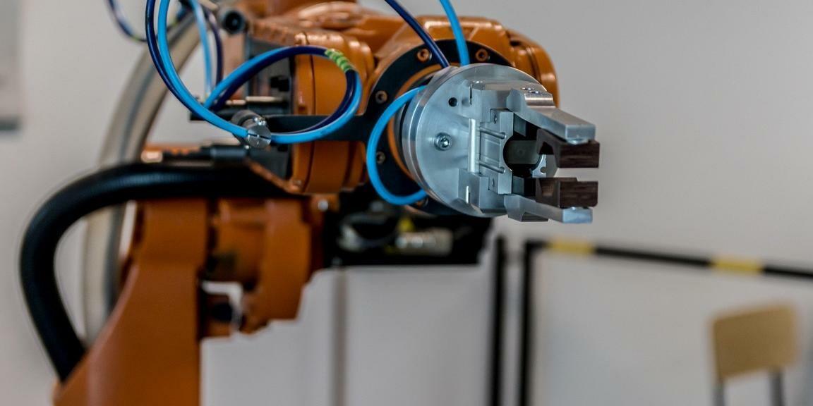 Produktionsroboter.
