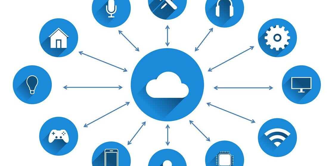 Grafik zum Thema Cloud-Dienst.