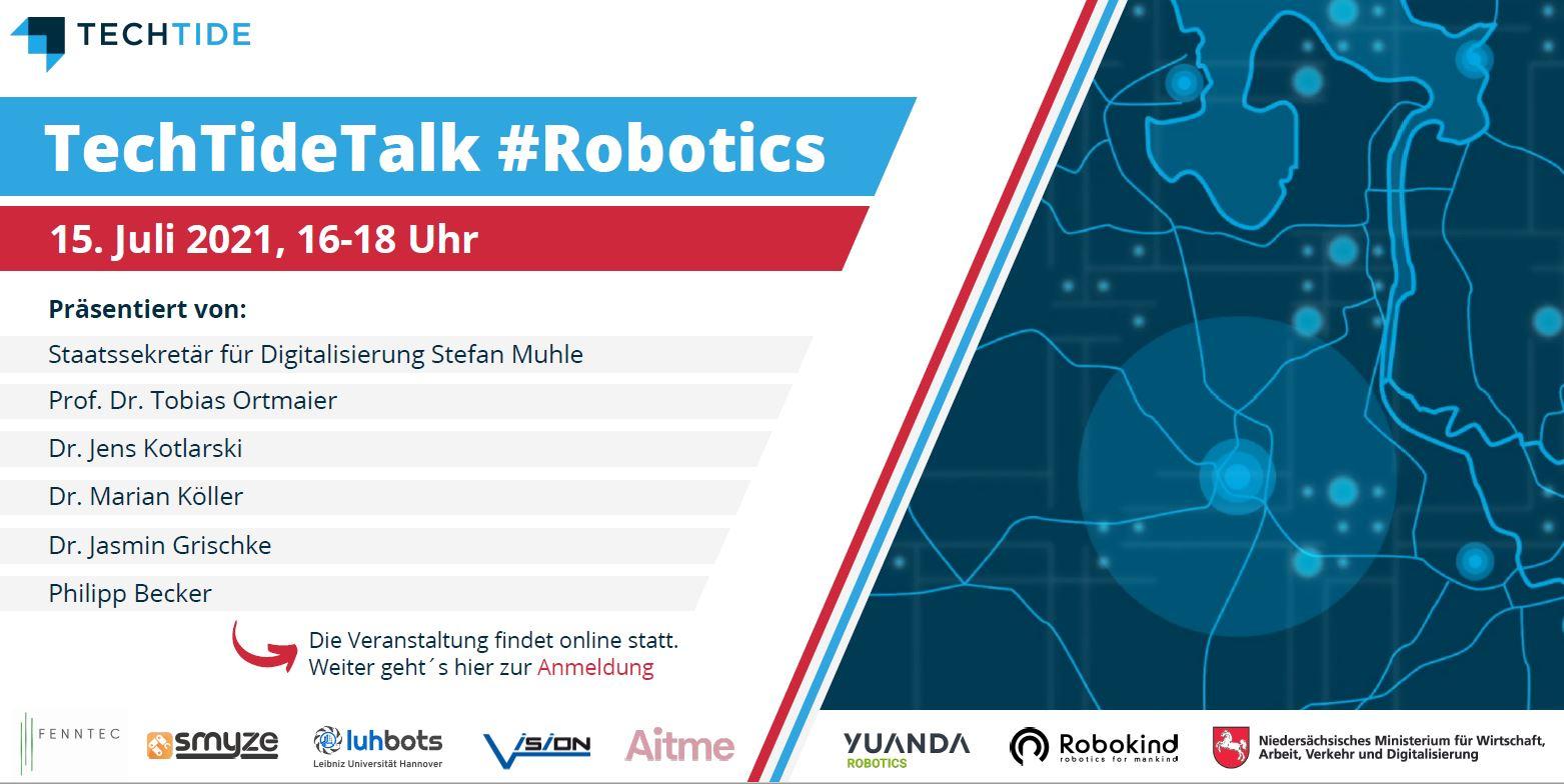 Banner von TechTide Talk #Robotics.